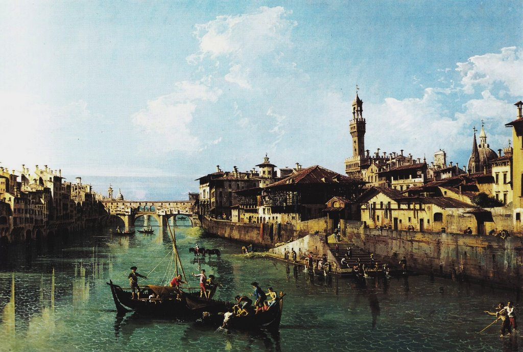 Bernardo Bellotto Arno in Firenze c. 1743