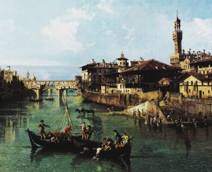 Bernardo Bellotto Arno in Firenze small